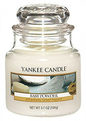 Yankee Scented Fragrance Candle Baby Powder Jar Small White Lasting 25-40 Hours • 11.99£