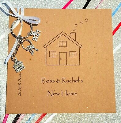 New Home Card And Keyring Gift⭐Handcrafted⭐New House Gift ❤ PERSONALISED⭐Unique  • 3.75£