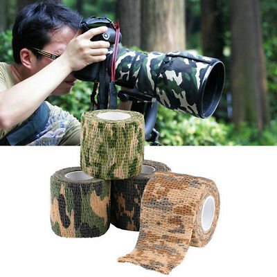 £3.27 • Buy Gun Hunting Wrap Tape 4.5m Self-adhesive Non-woven Bandage Stealth Camping Camo