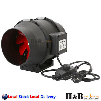 AU105.58 • Buy 6  150mm Inline Duct Fan Ventilation Exhaust Blower Stepless Speed Control
