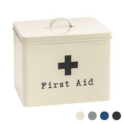 £16.99 • Buy First Aid Box Empty Emergency Medical Survival Kit Storage Case 2 Tier Cream