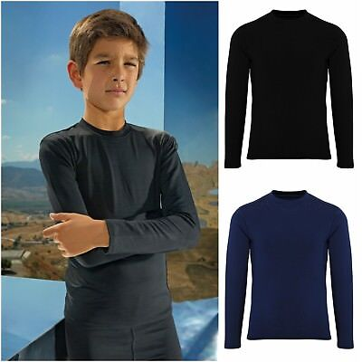 Childrens Base Layer Long Sleeve Compression Top Thermal Sports Boys Girls Kids  • 9.75£