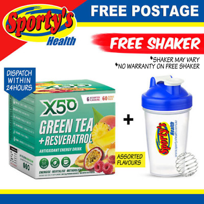 AU49.90 • Buy Green Tea X50 60 Serves Assorted Flavours Tribeca Health Weight Loss Energy