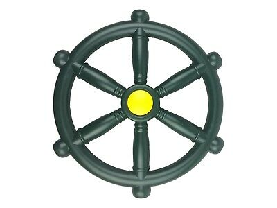 Kids Climbing Frame Pirate Green Wheel Ideal For Climbing Frames And Play House • 11.79£