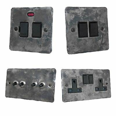£24.95 • Buy Rustic Silver Flat Plate FRB Light Switches, Plug Sockets, Dimmers, Cooker, Fuse