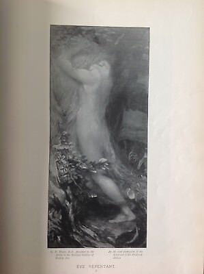 Eve Repentant, By G. F. Watts, Antique 1898 Print, Religion, Arts • 9.95£