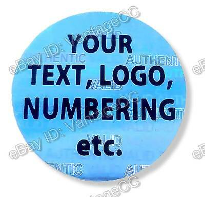 £25.99 • Buy Round CUSTOM-PRINTED Security Hologram Stickers, 20mm, Warranty Labels