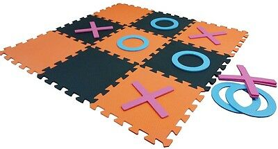 Giant Garden Noughts And Crosses Indoors Outdoors Eva Foam Toy Party Family Game • 7.95£