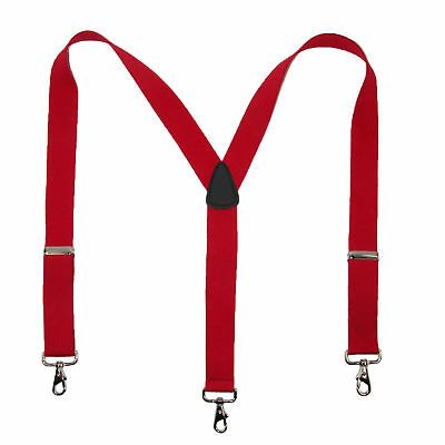 $17.90 • Buy New MTL Men's Elastic Suspender With Metal Swivel Hook Clip End, USA Made, Red