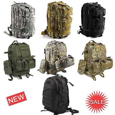 30L/40L/50L Military Tactical Army Rucksacks Molle Backpack Camping Hiking Bag • 19.99£