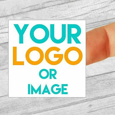 £2.99 • Buy Custom Logo Labels/stickers 40mm Square Personalised Business/Company Name