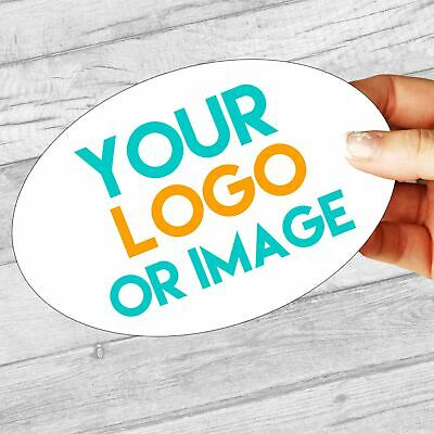 £2.99 • Buy Custom Logo Large Oval 134mm X 95mm Personalised Company Name Labels/stickers