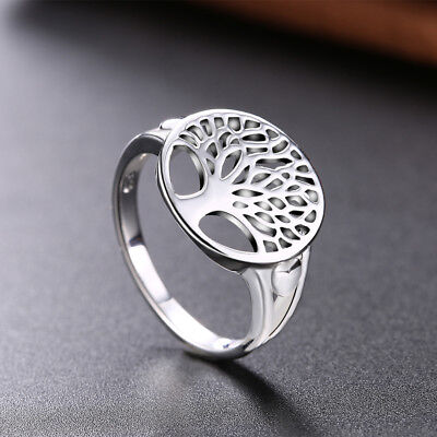 AU1.60 • Buy 925sterling Silver Tree Of Life Ring Jewelry Wedding Women Cute Size 6-9 Fashion