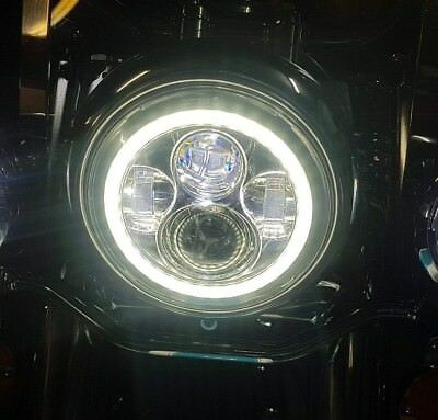 AU199.99 • Buy 7  LED Daymaker Headlights With DRL Halo Ring For Harley Davidson Motorcycles
