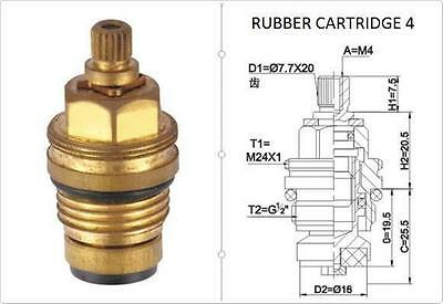 £3.95 • Buy Replacement Brass 7.7mm X 20 Rubber Tap Cartridge Valves Rc4 Gland Insert - Each