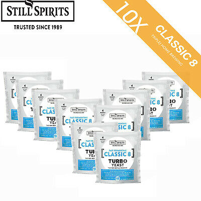 AU75.55 • Buy CLASSIC 8 Turbo YEAST Still Spirits 10 Pack Home Brew  FP