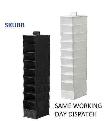 IKEA SKUBB Hanging Wardrobe Storage Organiser Divider 9 Compartments Clothes NEW • 19.87£