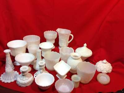 $10 • Buy Milk Glass Vases Candlesticks Candy Dishes Pitchers Covers Bowls Etc
