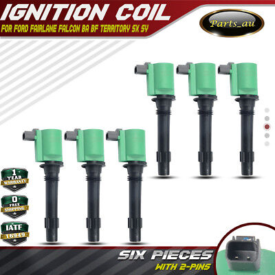 AU65.80 • Buy 6x HEAVY DUTY IGNITION COIL PACK FOR FORD TERRITORY BA BF FALCON 6cyl 4.0L