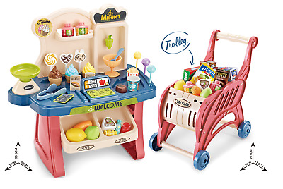 £10.49 • Buy Childrens 40 Piece 2:1 Role Play Sweet Shop Cash Till & Trolley Toy Set 668-83