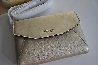 AU125 • Buy Oroton Estate Mini Envelope Crossbody Clutch Gold Colour Saffiano Leather