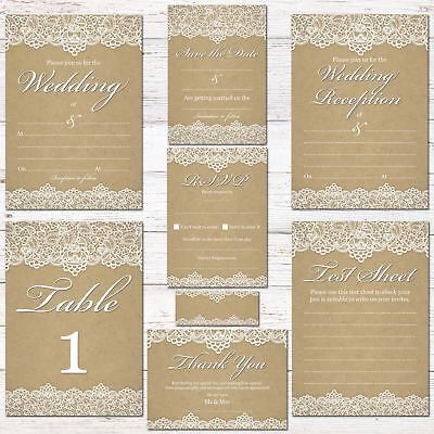 Wedding Invitations, RSVPS Cards, Thank You, Complete Wedding Stationary Sets. • 6£