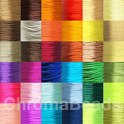 WHOLESALE: Reel/Spool Of 2mm Satin Rattail Nylon Cord - Kumihimo, Macrame, Craft • 7.95£