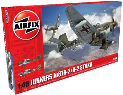 $26.39 • Buy Airfix Junkers Ju87R-2/B-2 Stuka 1:48 Scale Plastic Model Airplane A07115