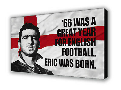 Manchester United - Eric Cantona 1966 - Wall Canvas Picture Print Wall Art • 20£