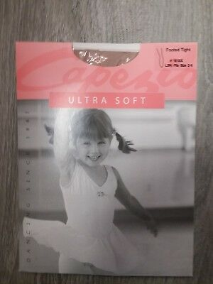 7899d8e2209a0 Capezio Ultra Soft Footed Child Tights Style 1815X Size 2-6 In Light Suntan  LSN