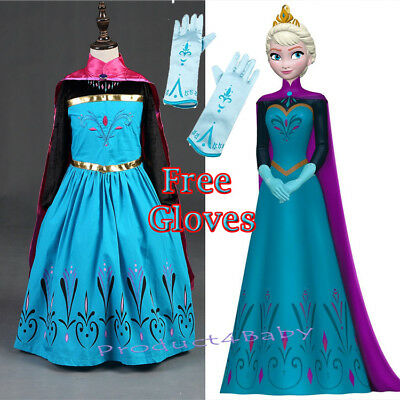 AU27.95 • Buy Girl Dress Costume Princess Queen Elsa Party Birthday Size 1-12Yrs