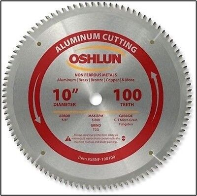 10  Inch 100 T Tooth Carbide Tip Tipped Aluminum Cutting Saw Blade W/ 5/8  Arbor • 109.99$