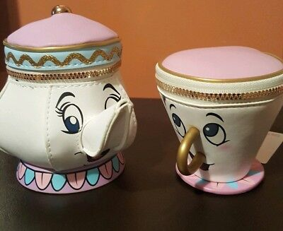 £9.99 • Buy Mrs Potts Beauty And The Beast Disney Primark Chip Cup & Teapot Coin Purse