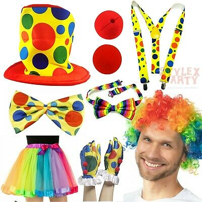 £4.99 • Buy Clown Fancy Dress Pick And Choose Halloween Scary Funny Spotty Clown Circus Lot