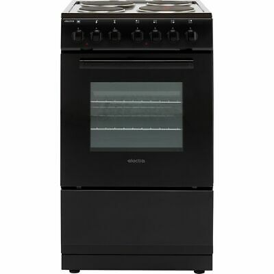 £189 • Buy Electra SE50B Free Standing A Electric Cooker With Solid Plate Hob 50cm Black