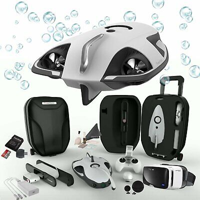 AU2999.95 • Buy PowerVision PowerRay Wizard Underwater Drone 4K UHD ROV With FPV Headset For Rea