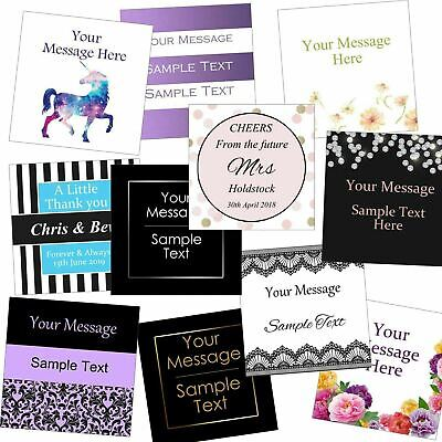 £2.99 • Buy Personalised 60mm Square Business/Company Name Labels/stickers, Thank You Seals