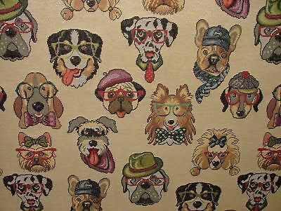 Dogs  Animal Tapestry  Designer Fabric For Upholstery Curtains Cushions Throws • 12.99£