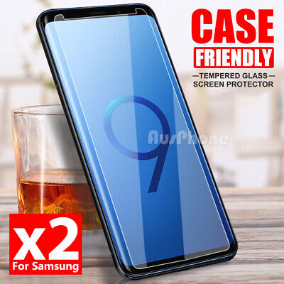AU3.39 • Buy 2x For Samsung Galaxy S9 S8 Plus Note 9 8 S7 S5 Tempered Glass Screen Protector
