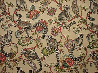 Madagascan Lemur  Animal Tapestry  Designer Fabric Upholstery Curtains Cushions • 12.99£