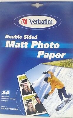 £4.99 • Buy Double Sided Matt Photo Paper A4 190gsm 20 Sheets 39001