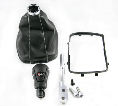 AU241.47 • Buy 97-02 F-Body 5/6 Speed Leather Shifter Boot & Knob Conversion Kit Silver Hurst