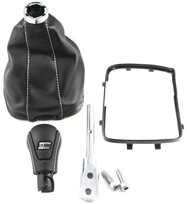 AU241.47 • Buy 97-02 F-Body 6 Speed Leather Shifter Boot & Knob Conversion Kit Silver 5.1 Logo