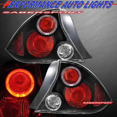 $84 • Buy Set Of Pair Black Altezza Taillights For 2001-2003 Honda Civic 2dr Coupe Only