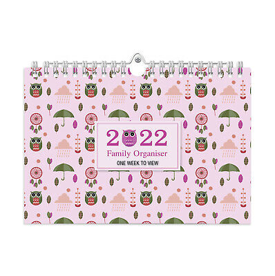 £8.49 • Buy 2022 Owls Family Organiser Calendar - One Week To View /home/office Planner