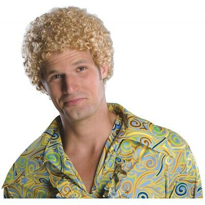 $10.89 • Buy Tight Fro Costume Wig Adult Mens Blonde Will Ferrel Afro 1970's Disco Halloween