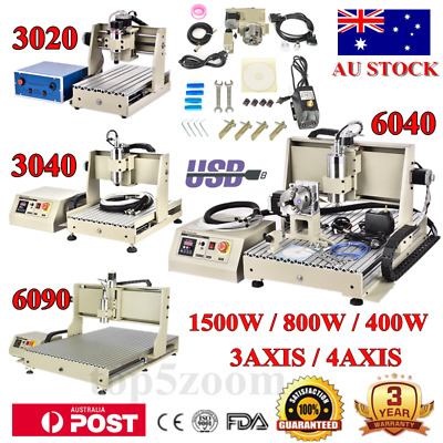 AU897.03 • Buy Usb! 3/4 Axis 1500w 800w Cnc 6090 6040 Router Engraver Drilling Machine Carving