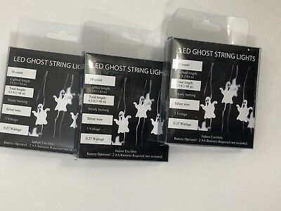 $ CDN6.06 • Buy Halloween Decoration Indoor Use Only 3Box Set LED Ghost String Lights White  New