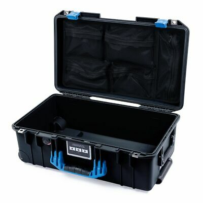 £160.14 • Buy Black & Blue Pelican 1535 Air Case With Lid Organizer. With Wheels.