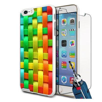 Cross Stitch Design Hard Case Cover & Glass For Various Mobiles • 6.90£